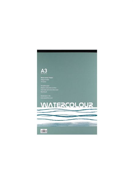 A3 350gsm Watercolour Gummed Pad