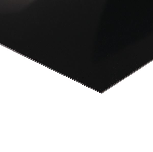 High Impact Polystyrene (HIPS) 2mm Thick, Black HIP2B