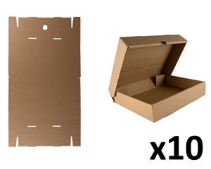 Flat-pack A4 storage box x10pk