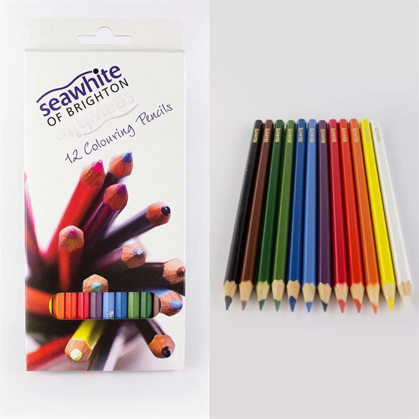 DACPEN12SW Box of 12 Seawhite Coloured Pencils