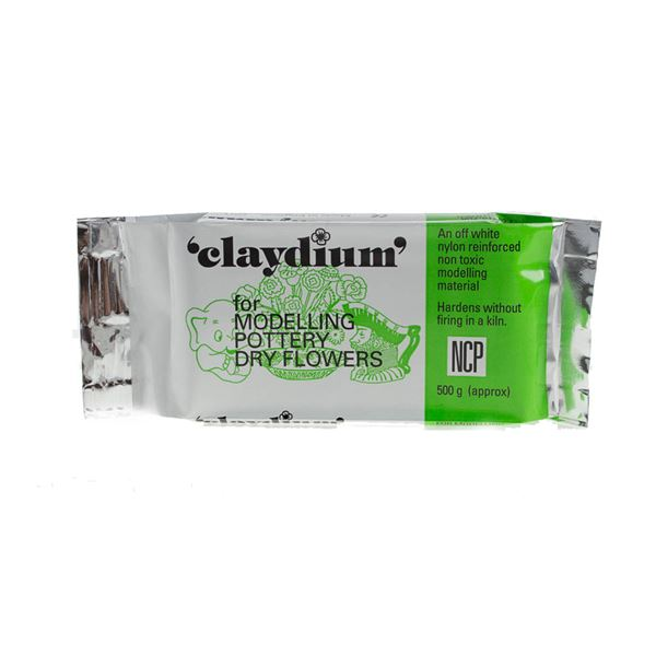 Claydium White Air-Drying Clay - 0.5kg pack MODCL0.5